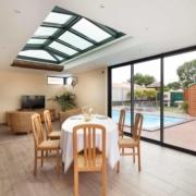 extension avec dome vitre salle a manger veranda extend albi tarn aveyron